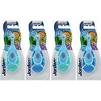 Jordan Step1 Baby Toothbrush, 4pack, Blue (Packed for evaluecan)