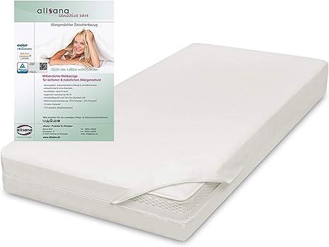 allsana Funda de colchón Sensitive Care, 100 x 220 x 24 cm, antialérgica, para colchones con sobrelongitud, antiácaros, también para camas con somier