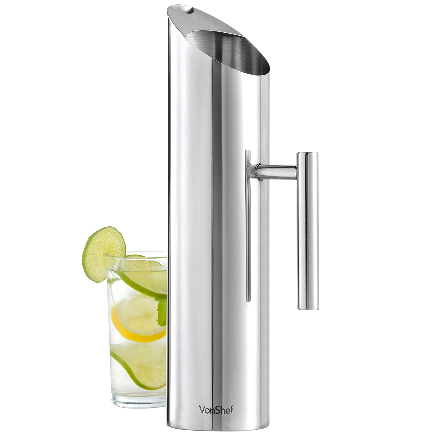 1.7L Stainless Steel Water Pitcher VonShef