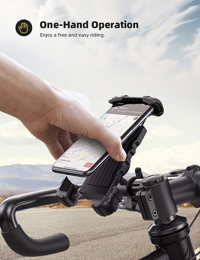 Lamicall Soporte Movil Bicicleta, Soporte Motocicleta: Amazon.es ...