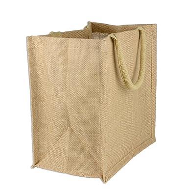 Amazon.com: (Paquete de 6) yute bolso de mano, ideal para ...