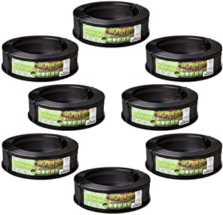 product image for Suncast 5 Eco Edge 20' Plastic Edging Roll with 2 Connectors, 5 Inch (8 Pack)