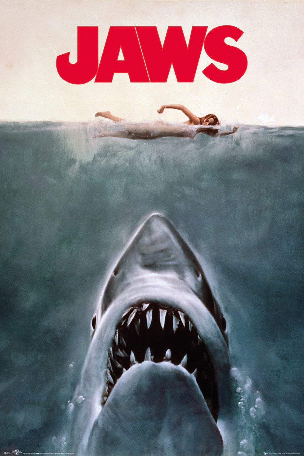 "Jaws - Movie Poster (Regular Style/Key Art) (Size: 24"" x 36"")"
