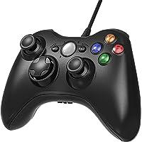 JAMSWALL Xbox 360 Wired Controller,2.4GHZ Game Controller Gamepad Joystick Xbox & Slim 360 PC Windows 7,8,10(Black)