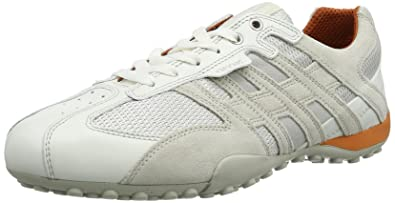 33f5308a27 Geox Uomo Snake Men Low-Top Trainers, White (Optic White), 6.5 UK ...