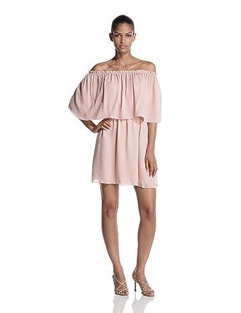 c6b9f4d6bcd4 Amazon.com: Halston Heritage Women's Off Shoulder Cocktail Dress: Clothing