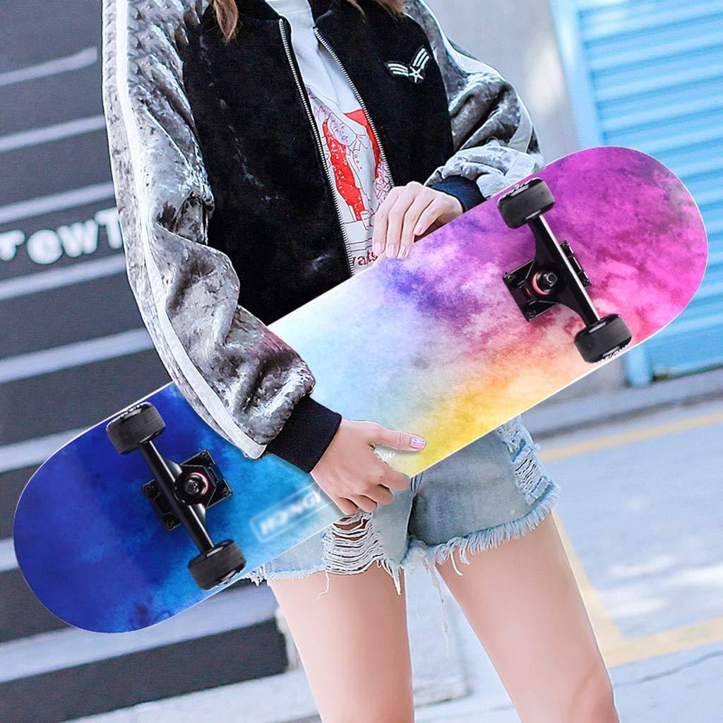 ふるさと納税 DUWEN スケートボードメープルボード大人男の子と女の子ダブルロッカースケートボード初心者ティーンプロ4輪スクーター(フラッシュホイール付き) : B07PQDD59R (色 C : C) B07PQDD59R C, アクショントゥールズ:ccbd4b8a --- quiltersinfo.yarnslave.com