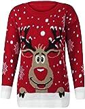 Fast Fashion Frauen Pullover Langarm Stern Twin Rudolph Neuheit Weihnachts