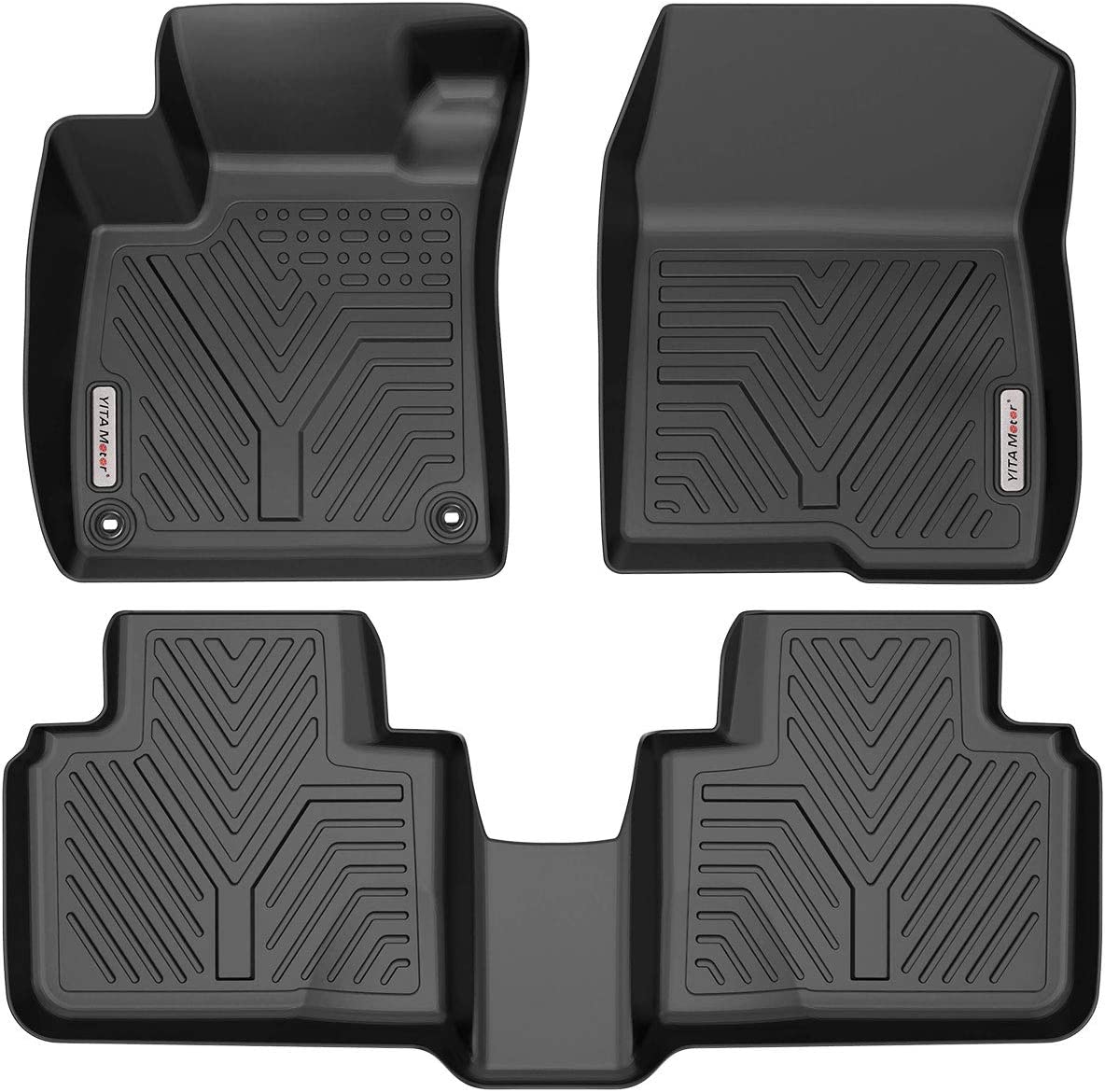YITAMOTOR Floor Mats Compatible with Honda Accord Custom Fit Floor Liners for 2018-2020 Honda Accord 1st /& 2nd Row All Weather Protection