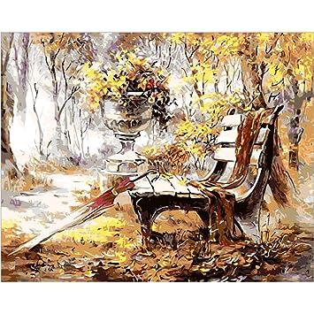 Sunshay Diy Pintura Al óleo Pintura Kit Hecho A Mano Imagen Dibujo