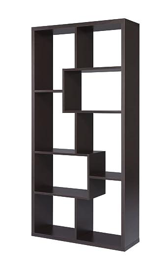 Furniture of America Oasis Open Back Bookcase, Walnut