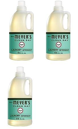 Mrs. Meyers detergente para lavandería, albahaca, 64 onzas líquidas ...