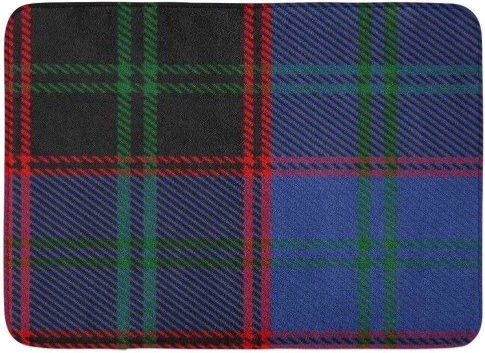 LiminiAOS Alfombrilla de baño Escocia Escocés Gala Clan Tartán A ...