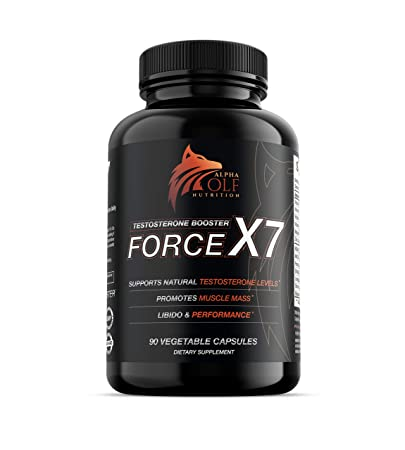 Force X7 - Natural Testosterone Booster for Men, Libido Support, Muscle  Builder, KSM-66