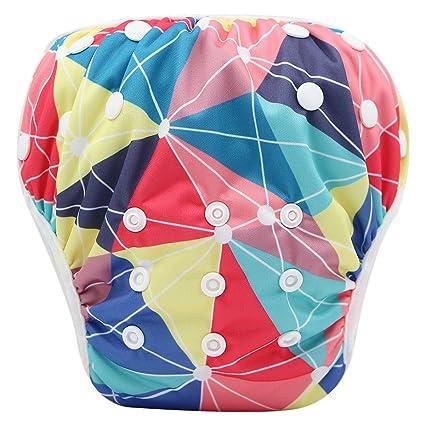 Storeofbaby Pañales de bebé para niñas traje de baño reutilizable ajustable para niñas 0 3 años
