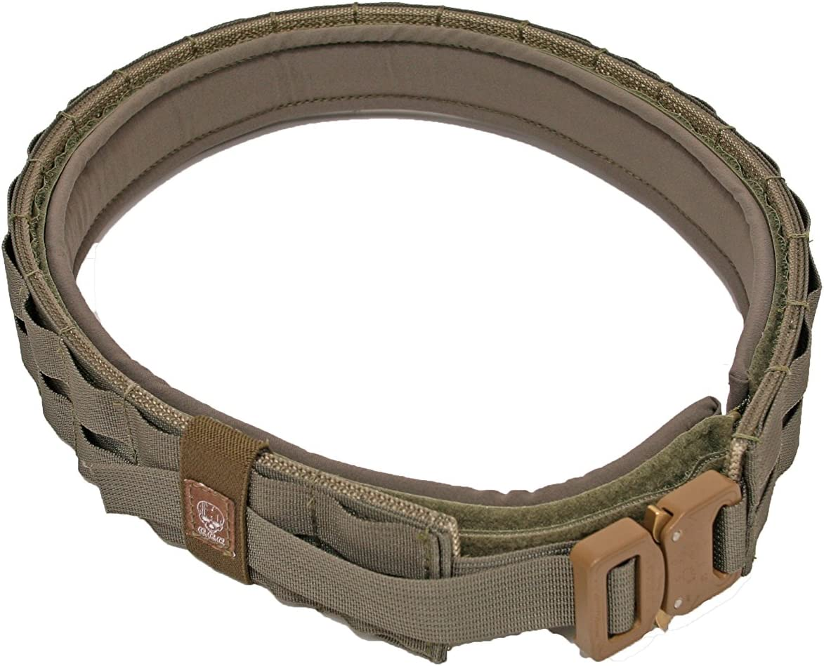 Grey Ghost Gear UGF Battle Belt with Padded Inner, Coyote Brown, XX-Large