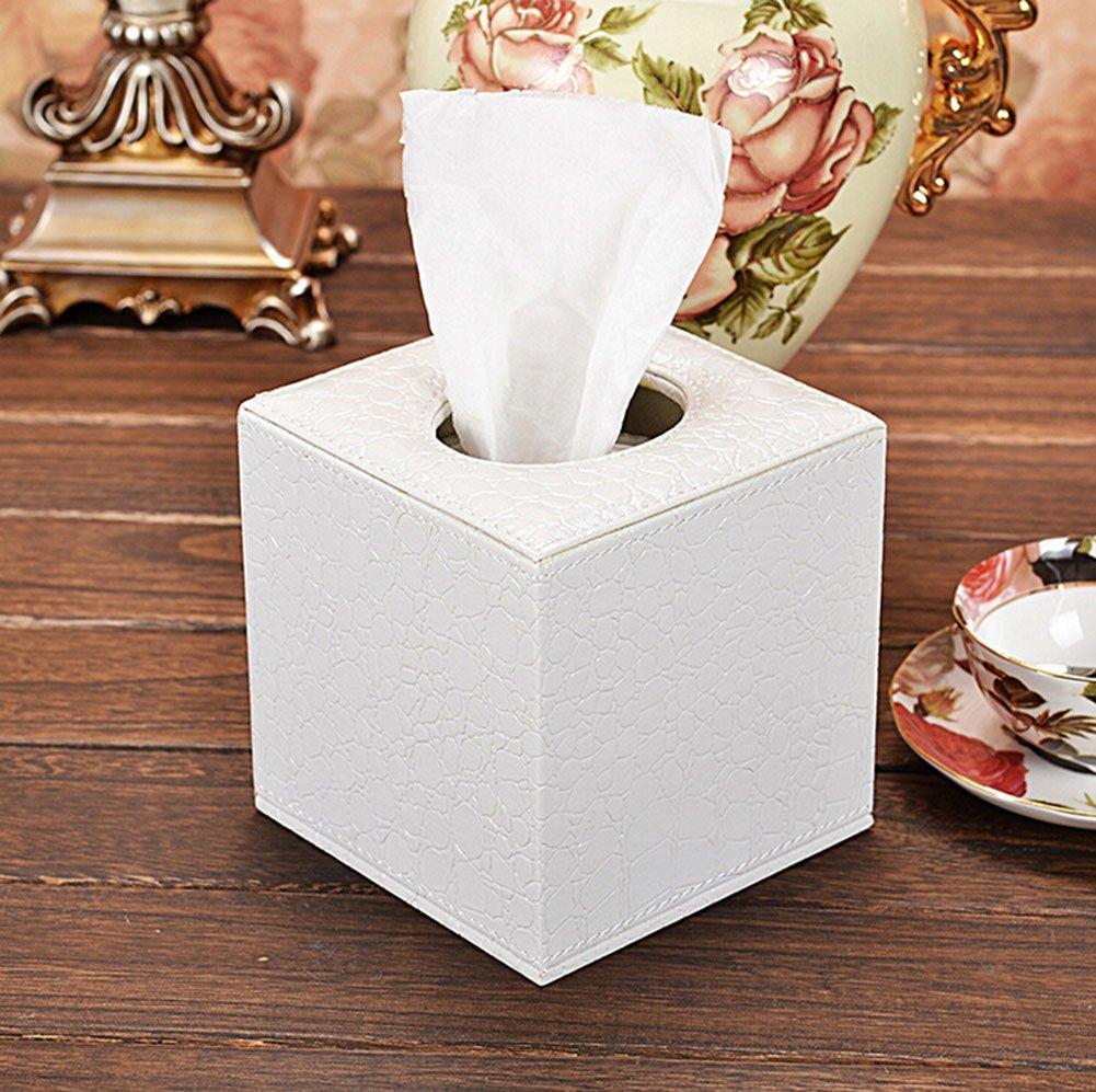 Porta fazzoletti in Pelle Sintetica 14 * 13.5 * 13.5cm Moolila Dispenser di fazzoletti Kleenex Pelle in Poliuretano Red