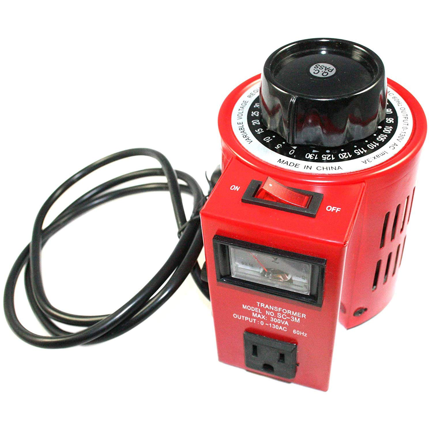 EX ELECTRONIX EXPRESS Variable Transformer, 300 VAC Max, 0-130V Output, 3 Amp by Electronix Express