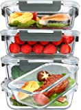 [5-Packs, 36 Oz.] Glass Meal Prep Containers with Lifetime Lasting Snap Locking Lids Glass Food Containers,Airtight…