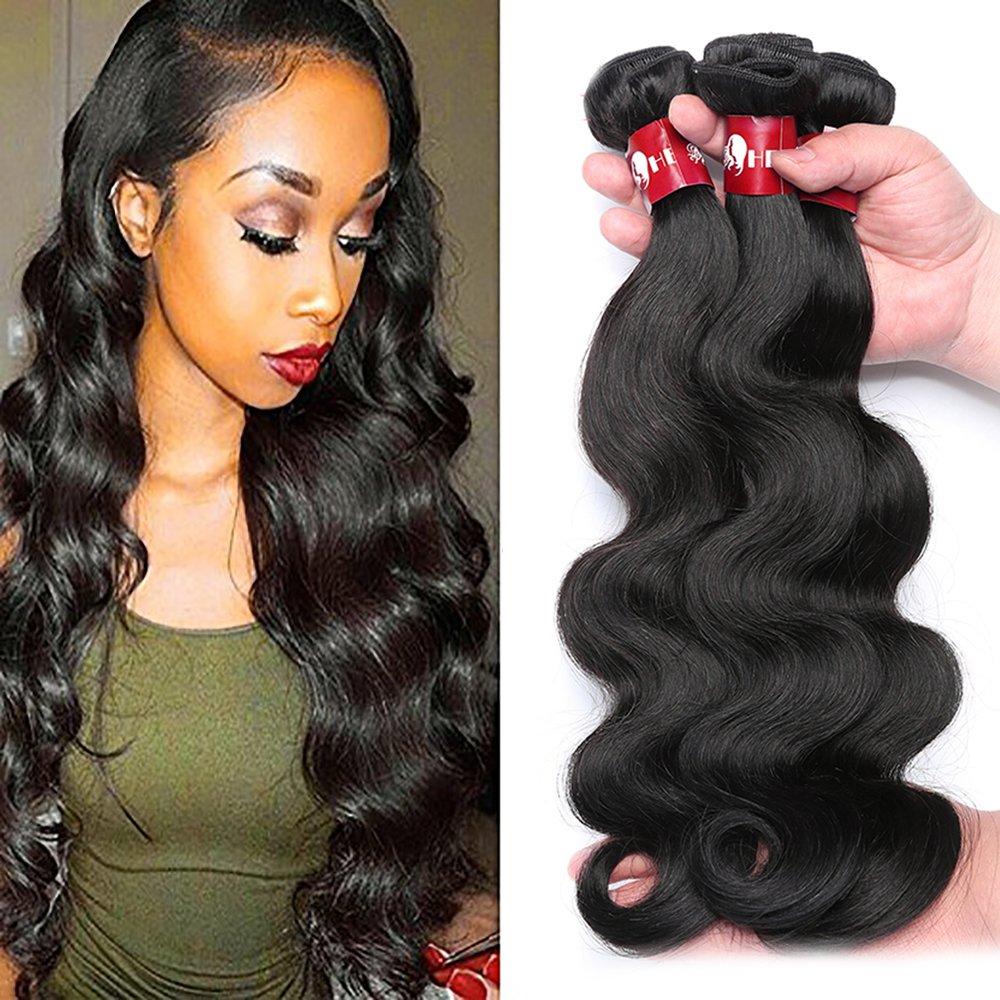 Amazon Hebe Brazilian Hair 4 Bundles 20 22 24 26inch Long