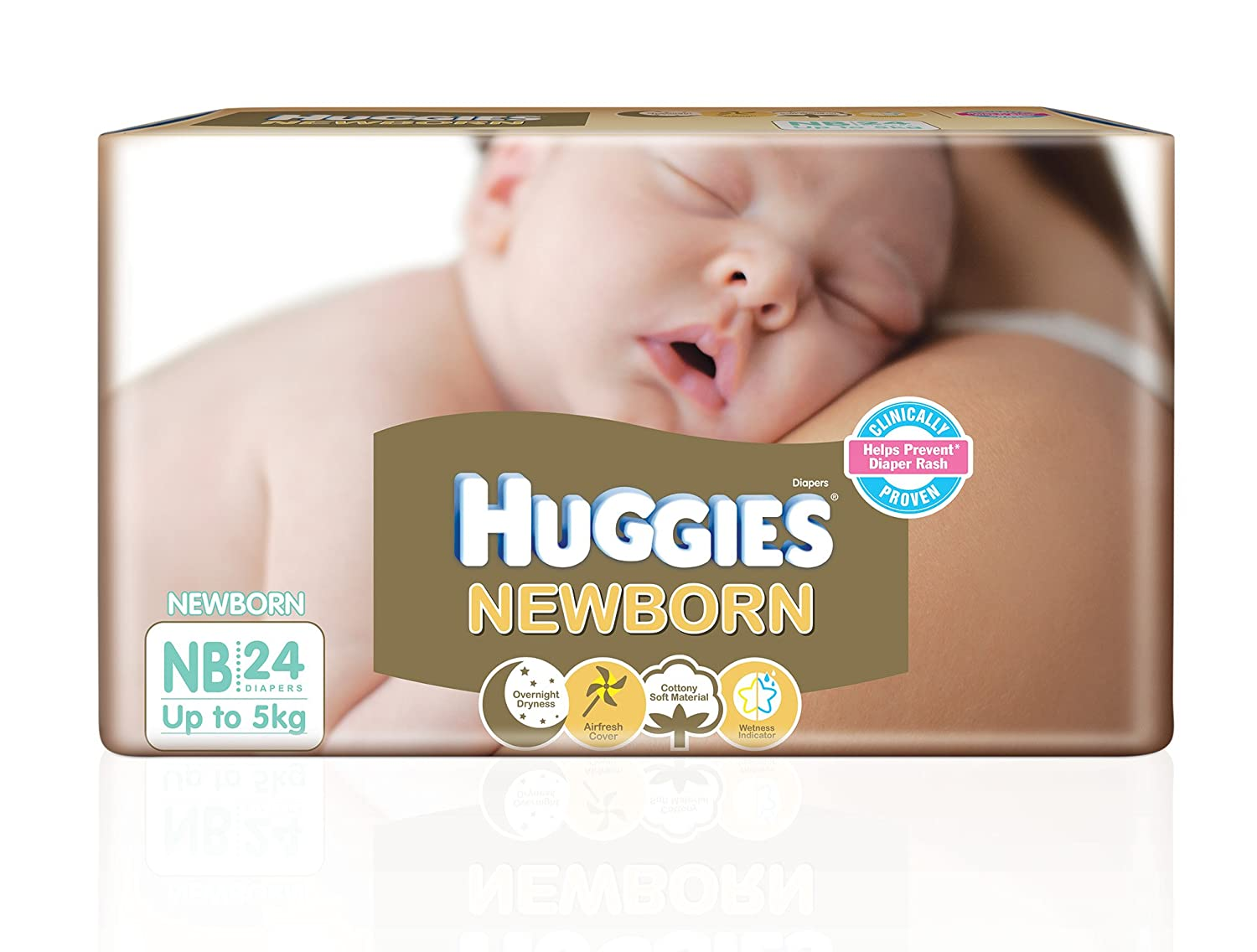 The size of the diapers for the newborn. What to do when the baby was born