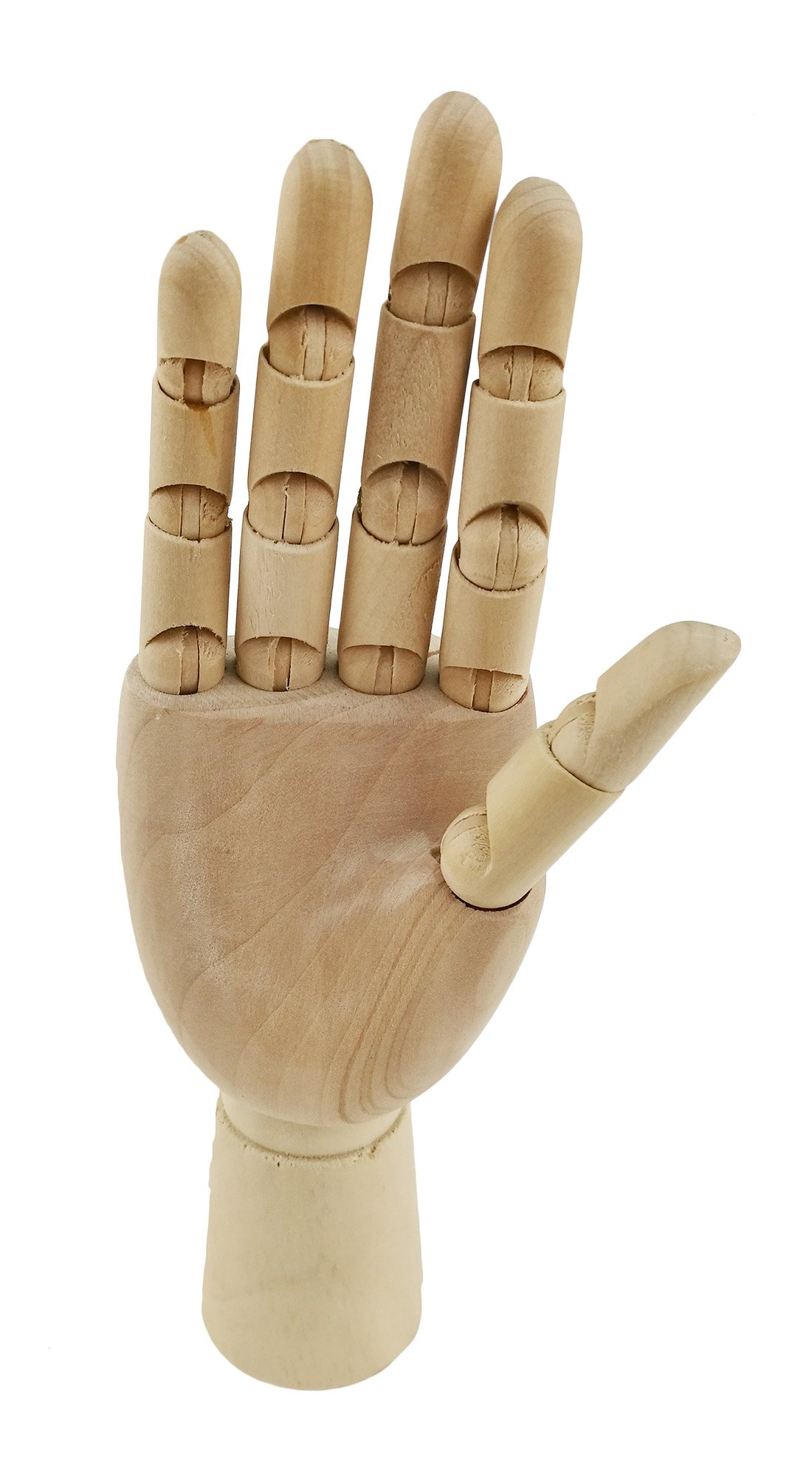 Wooden Pine Movable Hand Joint Model For Art Mannequin Sketch Reference Home Decor (Right Hand)