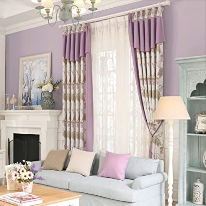 Jacquard Thick Bedroom Window Curtain Valance For Living Room Cotton Purple Red Panels Blackout Dining