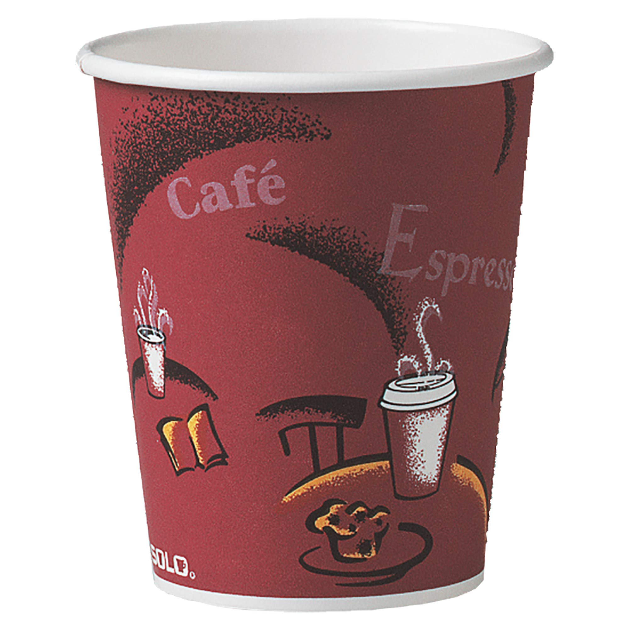 Solo 370SI-0041 10 oz Bistro SSP Paper Hot Cup (Case of 1000)