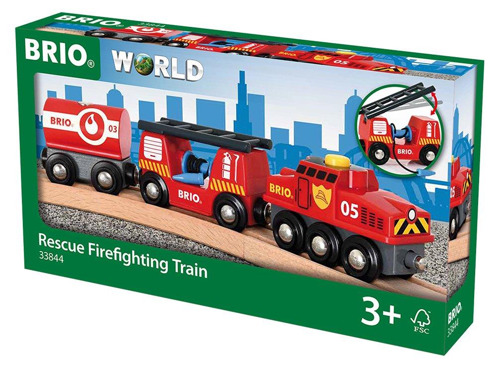 BRIO Bahn Großes Feuerwehr Deluxe - BRIO Feuerwehr Löschzug - Brio Holzeisenbahn