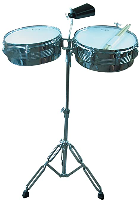 Amazon Com Gp Percussion Lt156 Timbale Drum Set Musical Instruments