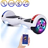 SISIGAD Hoverboard Bluetooth, Self Balancing Scooter 6.5 Self Balancing Hover Board with Bluetooth Speaker and LED Lights Hoverboards for Kids Adults UL 2272 Certified (3 Models 4 Color Available)