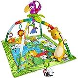 Mattel Fisher-Price DFP08 Rainforest Erlebnisdecke mit farbenfrohen Motiven