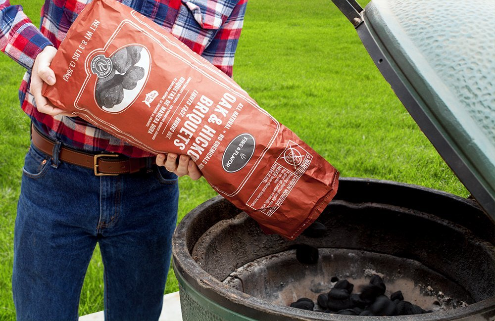 Fire & Flavor Premium All Natural Oak & Hickory Briquets, 8.3 Pound Bags, Pack of 2
