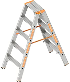beidseitig begehbar klappbar L/änge 2.65 m Holz-Aluminium-Stehleiter 2x12 Sprossen Layher 1028012 Verbundstehleiter 12