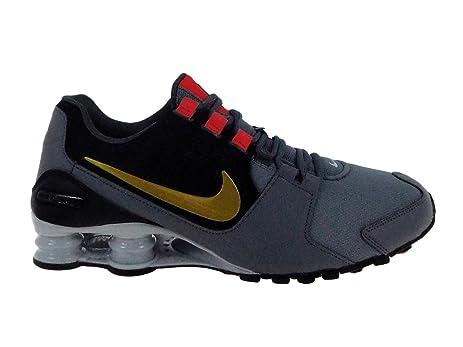 7eedd55efe8c ... where can i buy nike shox avenue 833583 007 cool grey metallic gold  mens running shoes