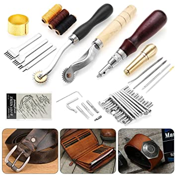 Amazon.com: Chranto lucky 7 Leather Craft Tools Punch Kit ...
