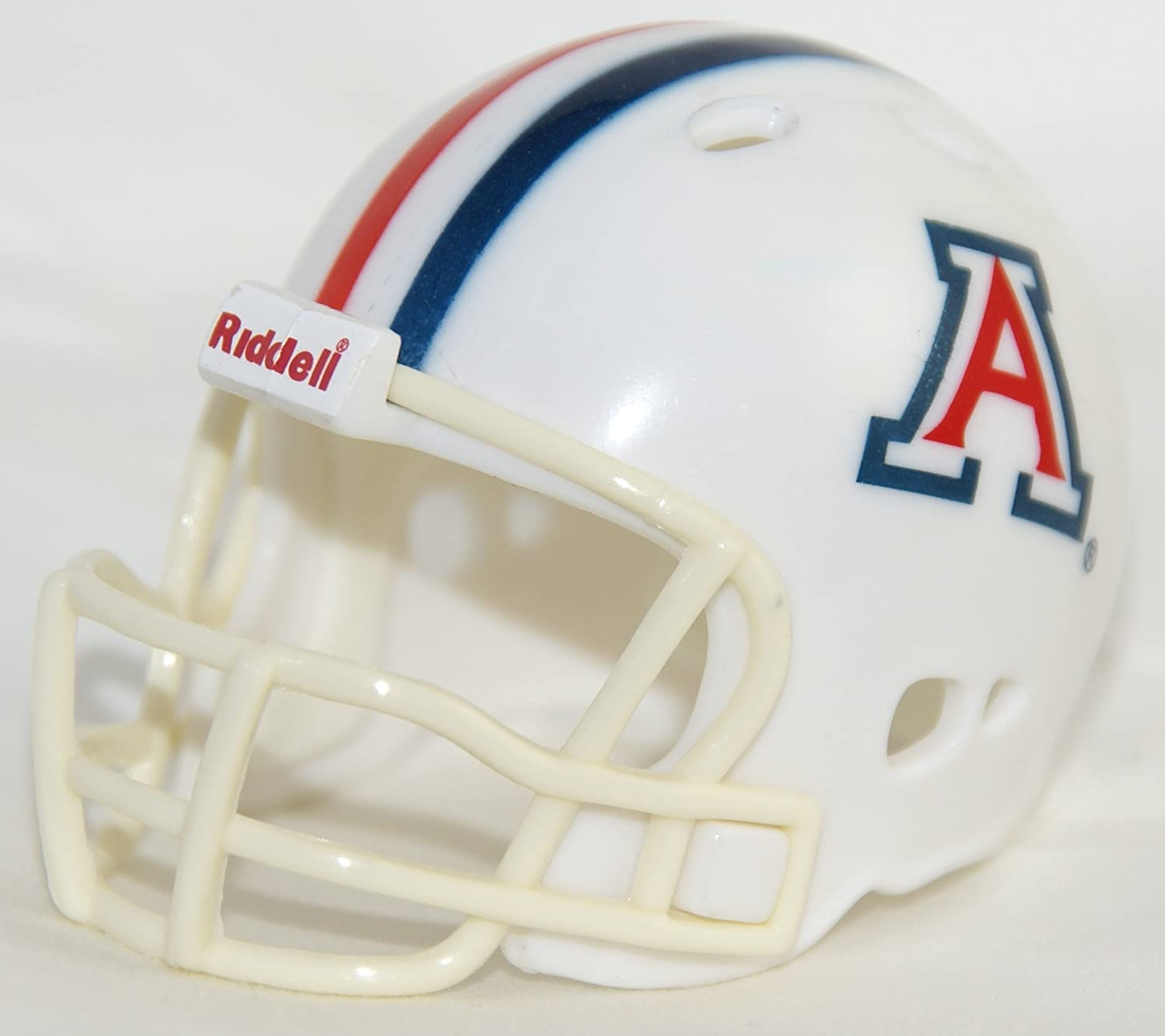 Team Colors Riddell NCAA Arizona Wildcats Helmet Pocket ProHelmet Pocket Pro VSR4 Style White One Size