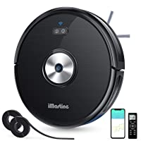 Robot Vacuum Cleaner Slim, Wi-Fi Connected, Compatible with Alexa, Smart Self-Charging...