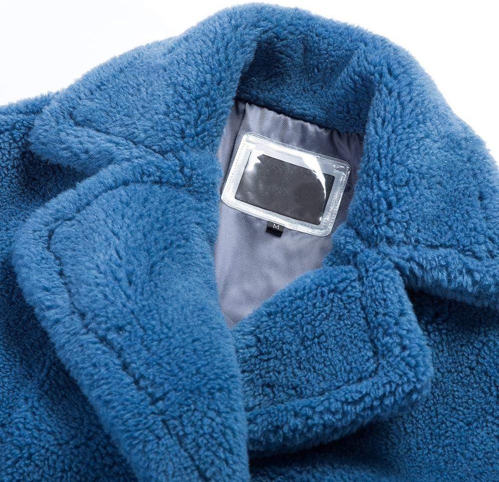 SHOUBANG Cappotto Cappotto di Pelliccia Invernale Cappotto di Orsacchiotto Femminile Sciolto Abbigliamento Cappotto di Mezza Lunghezza Caldo Inverno whiteDKL07-M