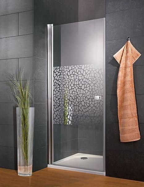 Schulte 4060991016066 puerta de ducha giratoria Reversible, Décor Canto cromado, 80 x 192 cm