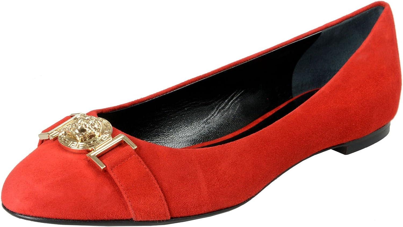 Versace Women's True Red Suede Leather