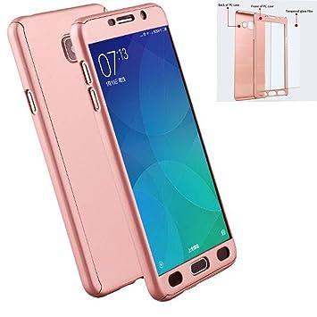 LXHGrowH Funda Samsung Galaxy A5 2017 [ 360 °] Protectora + Vidrio Templado, Funda Case Cover Carcasa para Samsung Galaxy A5 2017 Color Rosado