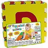 Teorema 72464 - Tappetini Puzzle con Lettere, 9 Pezzi, Colori e Lettere Assortiti