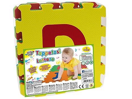 e8fa962595 Teorema 72464 - Tappeto Puzzle con Lettere, 9 Pezzi, Colori e Lettere  Assortiti