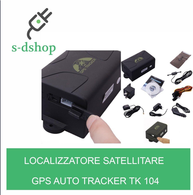 S-D SHOP LOCALIZZATORE SATELLITARE GPS AUTO TRACKER TK 104 MAGNETICO AUTONOMIA 30 GIORNI