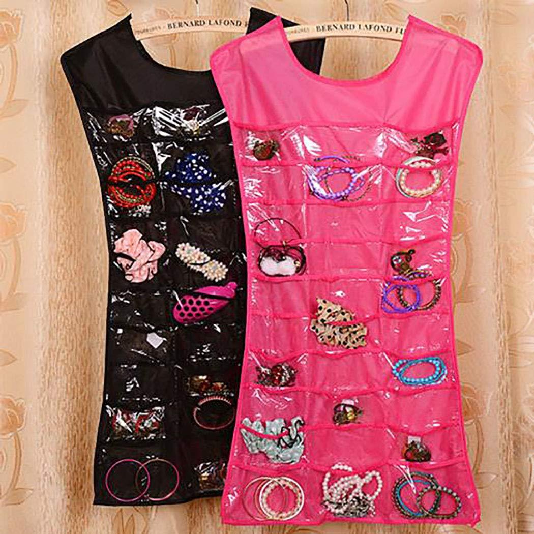 codemack Creative Jewelry Hanging Bag Socks Storage Rack Hanger Space Saver Bags 30 Pockets & 14 Hook