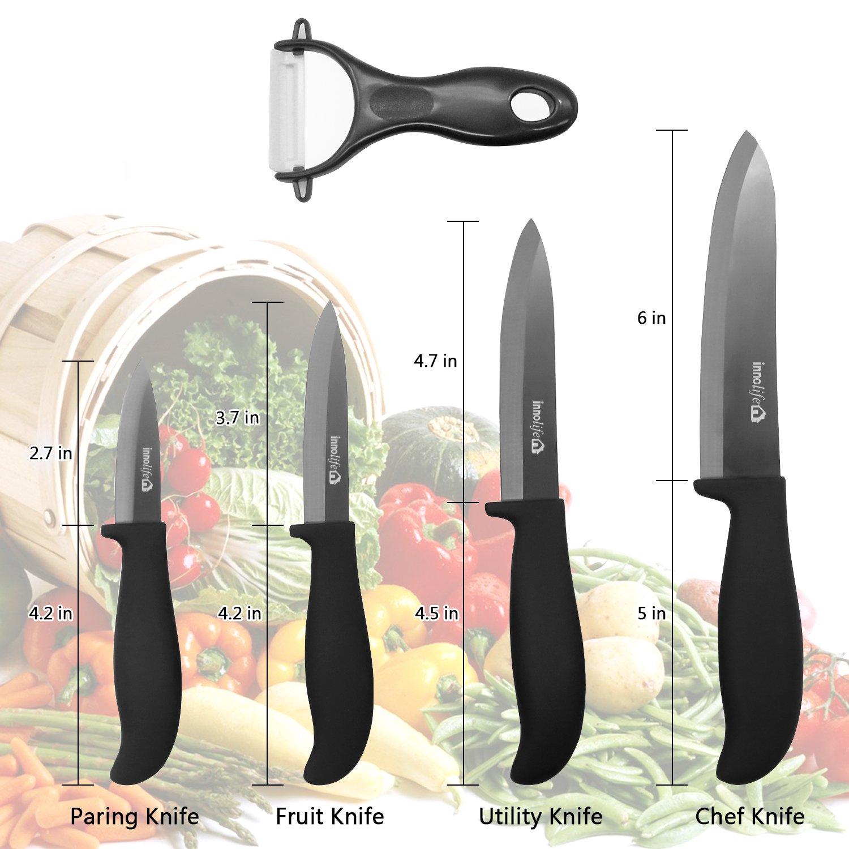 Amazon.com: InnoLife Ceramic Kitchen Knife Set With Sheath - 6\