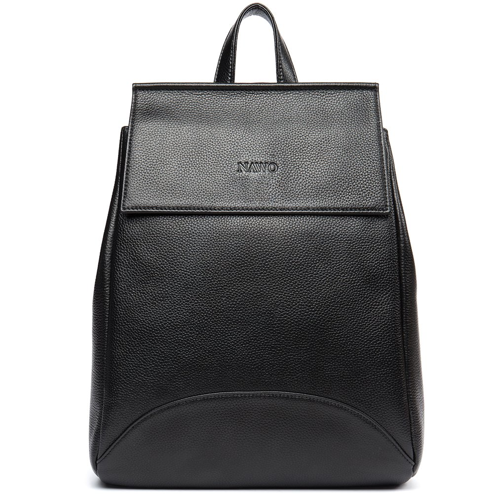 NAWO Genuine Leather Backpack Purse for Women Fashion Designer Small College Shoulder Bag