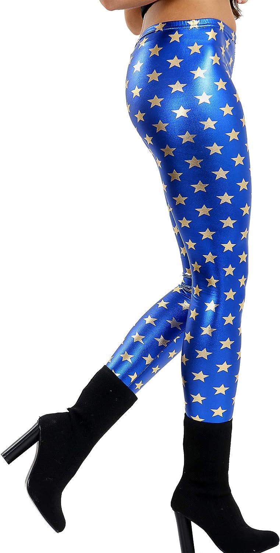 Fashion Oasis Girls Fish Scale Mermaid Foil Wet Look Shiny Leggings