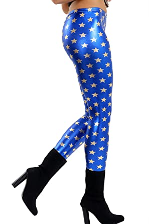 382011af18dc07 Kids Girls Fish Scale Mermaid Leggings Stretch Foil Wet Shiny Disco Party  Pants: Amazon.co.uk: Clothing